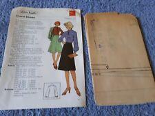 Vintage 1970s Silver Needles sewing pattern No: 22 Cravat blouse uncut