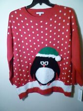 Notations Ladies Xmas Pullover Sweater Red 2X NWT MSRP $68