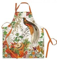 New listing Michel Design Works Cotton Apron Autumn Harvest Thanksgiving Fall Leaves New