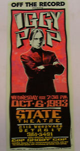 Iggy Pop State Theater 1993 RED poster Mark Aminski