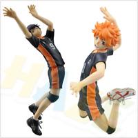 Anime Haikyuu!! Hinata Shoyo kageyama tobio PVC Figure Model 17cm In Box