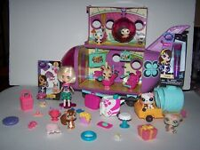 Littlest Pet Shop jet airplane w/Blythe,pets LPS lip gloss & LPS stickers & more