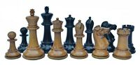 """1978 Circa Olympiad Havanna 3.78"""" Reproduction Distressed Antiqued Chess Pieces"""