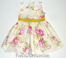 Persnickety 2 Kate Dress Daffodils and Dandelions Floral Girls NEW kg1
