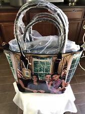 Michelle Obama Hand Bag Strap Muti-Colors 2-in-1 Purse/ Handbag #7209 Multi