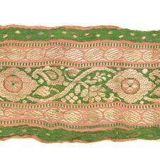 1m (3 foot) LONG Old Antique India SARI Saree TRIM Embroidered Textile 652j5