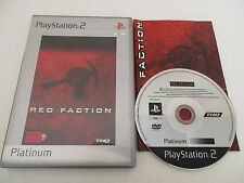 RED FACTION - SONY PLAYSTATION 2 PS2 PAL FR PLATINUM COMPLET