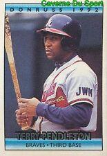 26 OF 36 TERRY PENDLETON BRAVES DONRUSS CRACKER JACK BASEBALL CARD 1992