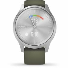 010-02240-01 vivomove Style Silver Tone with Green Silicone Band Smartwatch