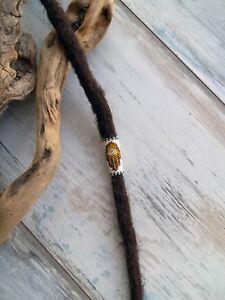 Hamsa Hand Dreadlock Bead Peyote Stitch Miyuki Dreadbead Dreadlock Accessory