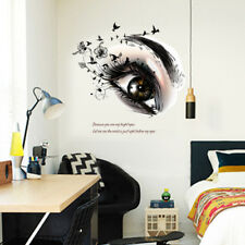 Black eyes flower bird home decor wall stickers girls decal mural flowerFF