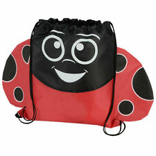 Ladybug Lady Bug - Childrens Animal Draw String Backpack Sport Pack Tote Bag