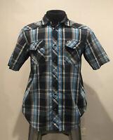 75940BK WRANGLER Mens EMBROIDERED YOKE Shirt 2XL Black Gray