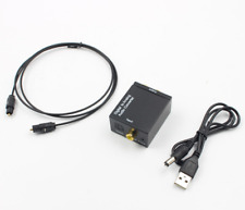 Coaxial Optical to RCA Converter with USB Cable