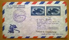 Poststuk - Eerste Vlucht KLM Amsterdam-Kabul 5 mei 1955