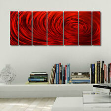 Red Modern Abstract Painting Wall Art Sculpture Home Decor - Red Hot Passion