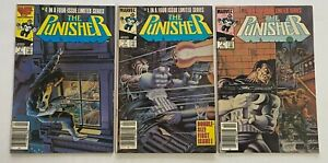 PUNISHER Marvel Limited Series #1 #2 #4 Newsstand Partial Key Set 3pc Lot 1985