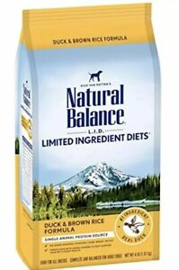 Natural Balance Limited Ingredient Diets Duck & Brown Rice 4lbs #1 Real Duck
