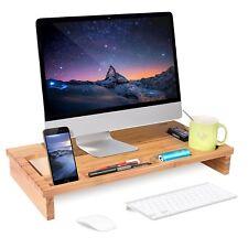 Bambus Bildschirmständer Monitorständer Schreibtischaufsatz Bildschirmerhöher