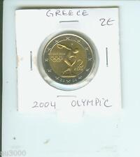 2004 GREECE  2€ 2-€ COMMEMORATIVE Coin Athens Olympics