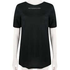 Thomas Wylde Black Motherf****r Crystal Detailed Boyfriend Fit T-Shirt Top S UK8
