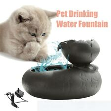 Ceramic Automatic Pet Drinking Water Fountain Dispenser Electric Cat Dog Bowl