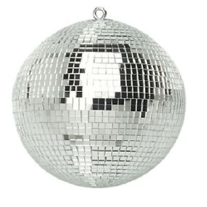 """Soundlab G007A 8"""" 20cm Mirror Glitter disco Ball lightweight silver parties"""