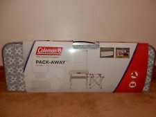 COLEMAN PACK-AWAY CAMP KITCHEN PORTABLE TABLE BRAND NEW FREE USPS SHIPPING