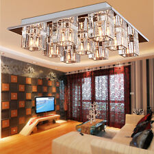 NEW Crystal 9 Light Flush Mount Chandelier Pendant Lighting Ceiling Fixture Lamp