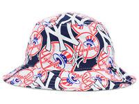 New York Yankees MLB Bravado All Over Logos Bucket Floppy Hat Cap Beach Pool NYY