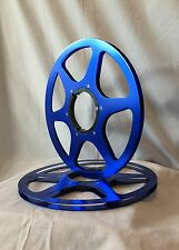 "ONE PAIR   New  10.5"" Anodized  Aluminum metal Reels   Deep BLUE"