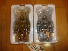 Authentic Bape x Medicom Shark Chogokin Bearbrick 200% Gold Silver Set