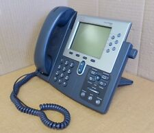 Cisco CP-7961G Unified IP VoIP Phone Grey Corded Handset + Stand