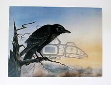 Sue Coleman Hand Signed Numbered Limited Edition Artist's Proof Raven 1986