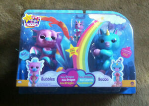 Fingerlings Fantasy Series Baby Dragon Bubbles Baby Unicorn Becca and Bonus Mini