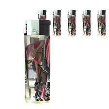 Bad Girl Pin Up D12 Lighters Set of 5 Electronic Refillable Butane