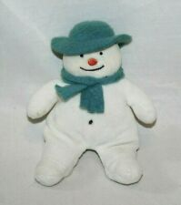 "Eden Raymond Briggs Plush Snowman Beanie 7"" Stuffed Toy Green Hat Tiny White HTF"