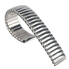 18 mm Silver Expansion Watch Band Strap Flexible Stainless Steel Women Bracelet