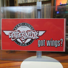 AEROSMITH 'Got Wings?' Bumper Sticker; 'Aero Force One' Fan Club Vintage Unused