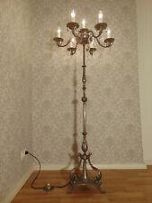 Rarität alte antike große Stehlampe Kronleuchter Bronze Silber Kristall ca .1930