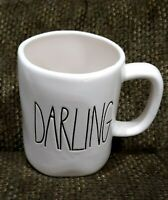 RAE DUNN ARTISAN COLLECTION MAGENTA LARGE LETTER DARLING IVORY MUG CUP