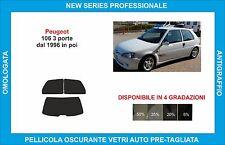 pellicole oscuranti vetri peugeot 106 3 porte dal 1996 in poi kit posteriore