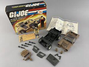 Hasbro G.I. Joe ARAH 1984 Vamp Mark II with Box Blueprints Clutch File Card