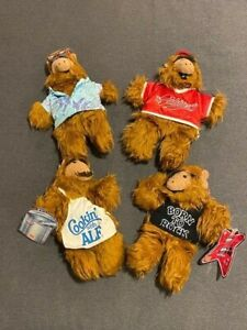 COMPLETE SET - THE MANY FACES OF ALF - 4 HAND PUPPETS BURGER KING COLECO 1988!!!