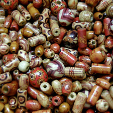 Wooden beads, mixed patterns, mixed shapes Round, Tube, Rice, 100 ,  W300