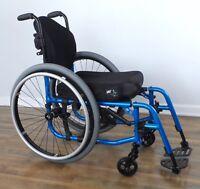 TiLite Aero-X ultralight folding wheelchair, Ti Shadow wheels, ADI back, #5394