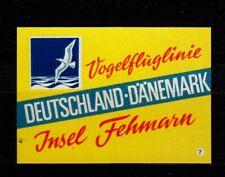 408508/ Zündholzetikett - Insel Fehmarn – Vogelfluglinie
