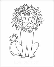 """Rug Hooking Pattern """"LION SMALL""""  on natural linen"""