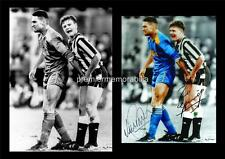 VINNIE JONES GRABBING PAUL GASCOIGNE GAZZA SIGNED (REPRINT) EXCLUSIVE A4 PRINT 2