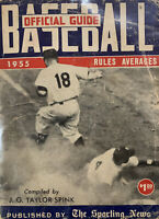 The Sporting News 1955 Official Baseball Guide